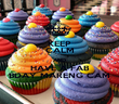 KEEP CALM AND HAVE A FAB BDAY MARENG CAM - Personalised Poster large