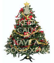KEEP CALM AND HAVE A  GOOD XMAS - Personalised Poster large