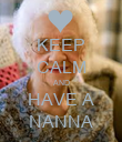 KEEP CALM AND HAVE A NANNA - Personalised Poster large