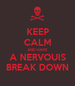 KEEP CALM AND HAVE A NERVOUIS BREAK DOWN - Personalised Poster large