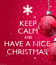 KEEP CALM AND HAVE A NICE  CHRISTMAS  - Personalised Poster large