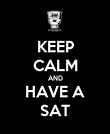 KEEP CALM AND HAVE A SAT - Personalised Poster large