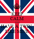 KEEP CALM AND HAVE A TWIN  LIKE MINE - Personalised Poster large