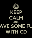 KEEP CALM AND HAVE SOME FUN WITH CD - Personalised Poster large