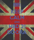 KEEP CALM AND HBD 21 DOORA - Personalised Poster large