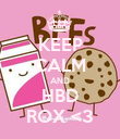 KEEP CALM AND HBD ROX <3 - Personalised Poster large