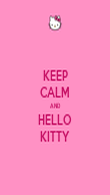 KEEP CALM AND HELLO KITTY - Personalised Poster large