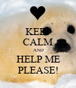 KEEP CALM AND HELP ME PLEASE! - Personalised Poster large