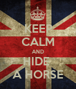 KEEP CALM AND HIDE  A HORSE - Personalised Poster large