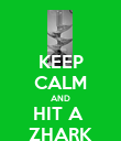 KEEP CALM AND HIT A  ZHARK - Personalised Poster large