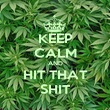 KEEP CALM AND HIT THAT SHIT - Personalised Poster large