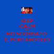 KEEP CALM AND HO SCORDATO  IL PORTAFOGLIO - Personalised Poster large