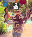 KEEP CALM AND HOLD A  SERPENT - Personalised Poster large