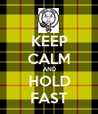 KEEP CALM AND HOLD FAST - Personalised Poster large