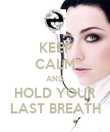 KEEP CALM AND HOLD YOUR LAST BREATH - Personalised Poster large