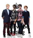 Keep Calm and Hollywood Ending - Personalised Poster large
