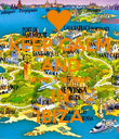 KEEP CALM AND HONEYMOON  IN IBIZA - Personalised Poster large