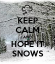 KEEP CALM AND HOPE IT SNOWS - Personalised Poster large