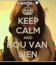 KEEP CALM AND HOU VAN  LIEN - Personalised Poster large