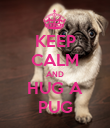 KEEP CALM AND HUG A PUG - Personalised Poster large