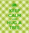 KEEP CALM AND HUG A TREE - Personalised Poster large