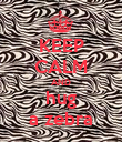 KEEP CALM AND hug a zebra - Personalised Poster large