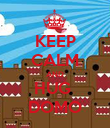 KEEP CALM AND HUG  DOMO - Personalised Poster large