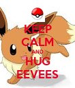 KEEP CALM AND HUG EEVEES - Personalised Poster large
