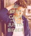 KEEP CALM AND HUG JUSTIN BIEBER - Personalised Poster large