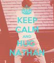 KEEP CALM AND HUG  NATHAN - Personalised Poster large