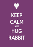 KEEP CALM AND HUG RABBIT - Personalised Poster large