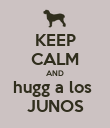 KEEP CALM AND hugg a los  JUNOS - Personalised Poster large