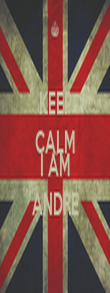 KEEP CALM AND I AM ANDRE - Personalised Poster large