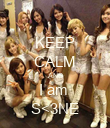 KEEP CALM AND I am  S<3NE - Personalised Poster large