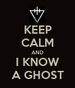 KEEP CALM AND I KNOW A GHOST - Personalised Poster large