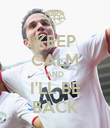 KEEP CALM AND I'LL BE BACK - Personalised Poster large