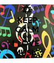 KEEP CALM AND I LOVE  MUSIC - Personalised Poster large