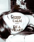 KEEP CALM AND I'M A  WIZARD - Personalised Poster large