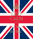 KEEP CALM AND i´m lovatic  - Personalised Poster large