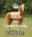 KEEP CALM AND i need money  - Personalised Poster large