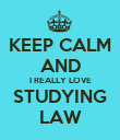 KEEP CALM AND I REALLY LOVE STUDYING LAW - Personalised Poster large