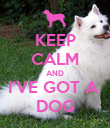 KEEP CALM AND I'VE GOT A  DOG - Personalised Poster large