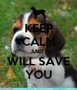 KEEP CALM AND I WILL SAVE YOU - Personalised Poster large