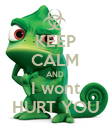KEEP CALM AND I wont HURT YOU - Personalised Poster large