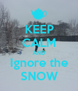 KEEP CALM AND Ignore the SNOW - Personalised Poster large