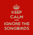 KEEP CALM AND IGNORE THE SONGBIRDS - Personalised Poster large