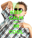 KEEP CALM AND IM COOL - Personalised Poster large
