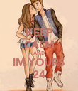 KEEP CALM AND IM YOURS 24 - Personalised Poster large
