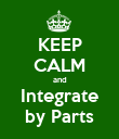 KEEP CALM and Integrate by Parts - Personalised Poster large
