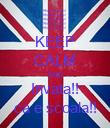 KEEP CALM AND Invata!! ca e scoala!! - Personalised Poster large